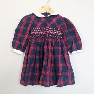 Other - Carriage Boutiques Plaid Smocked Dress 12 Month